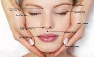 Cách massage bấm huyệt vùng mặt